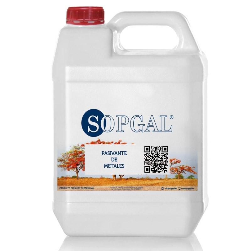 Pasivante de metales de Sopgal. Evita la oxidación de los metales