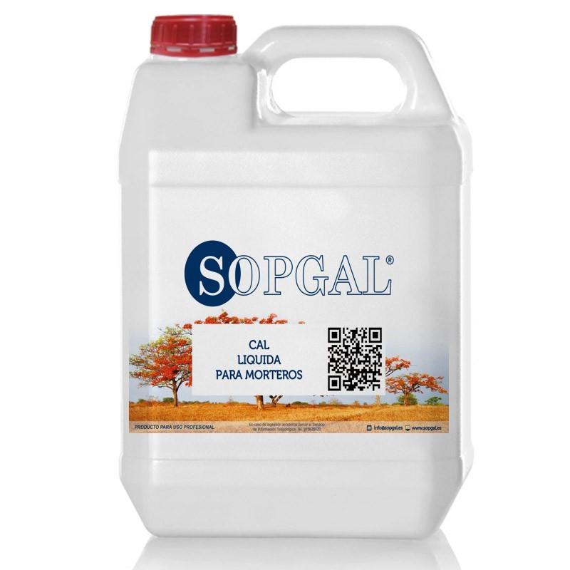 Cal líquida para morteros de Sopgal. Productos para la construcción