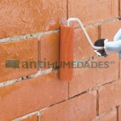 Aplicación de Hidrófugo Barniz Piedra de Sopgal en exteriores de ladrillo