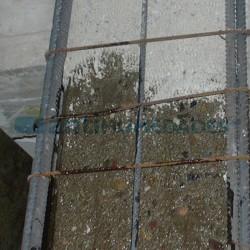 Aplicación de mortero de Resina Puente Unión de Sopgal para mejorar adherencia a morteros viejos.
