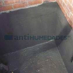 Aplicación de Mortero Pantalla Impermeabilizante de Sopgal en soportes en los que hay estancamiento de agua