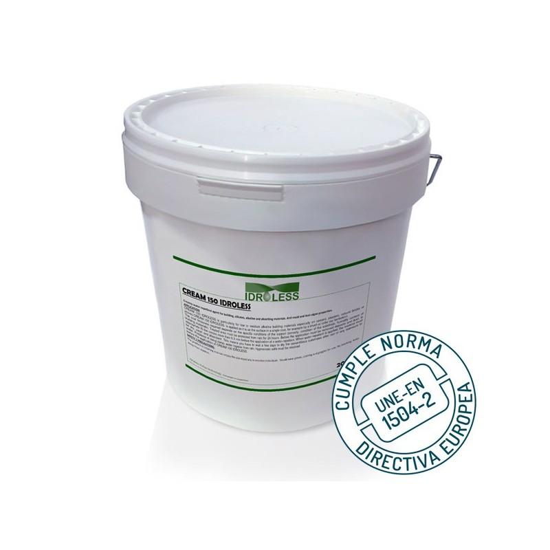 Producto hidrófugo Cream 150 de Idroless. Cumple norma europea 1504-2
