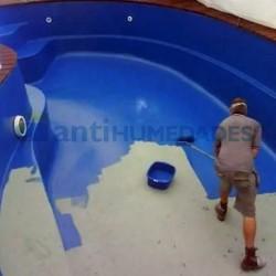 Pintura Piscinas Poliuretano Impermeabilizante Idroless color azul