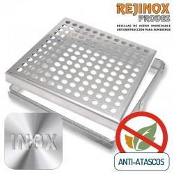 Rejilla con Sistema Anti Atascos Marco + Tapa Plana en Acero Inoxidable de Rejinox Prodes