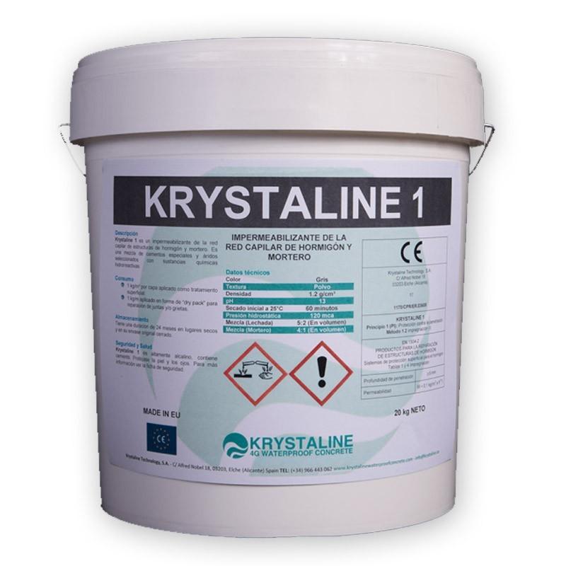 impermeabilizante para hormigón y morteros Krystaline Sopgal.