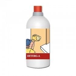 Deterg-A de Azichem es un limpiador de manchas de salinidad, cal incrustada o musgos en superficies exteriores