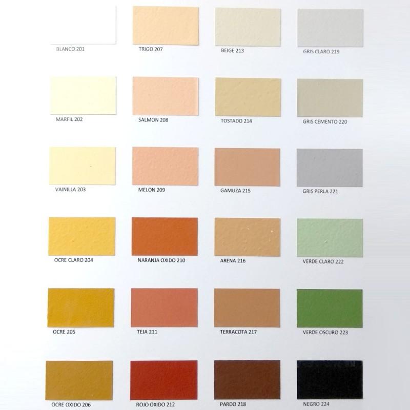 Carta de colores básicos Paintcal - Pintura de Cal