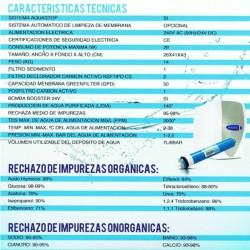Características del depurador de agua por osmosis de SINCO