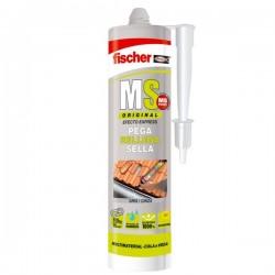 Masilla de polímeros adhesiva monocomponente MS Original de Fischer color gris
