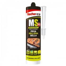 Masilla de polímeros adhesiva monocomponente MS Original de Fischer color negro