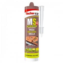 Masilla de polímeros adhesiva monocomponente MS Original de Fischer color marron