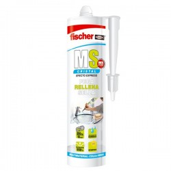 Masilla de polímeros adhesiva monocomponente MS Original de Fischer color transparente