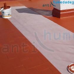 Impermeabilización de terraza con Pintura de Caucho Suprem