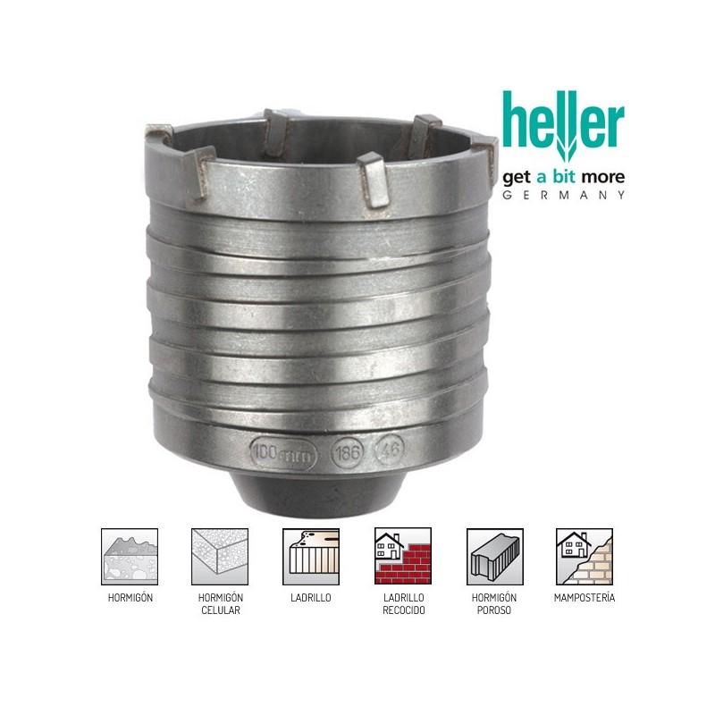 Corona de perforación Heller 100 mm para ladrillo y Hormigón