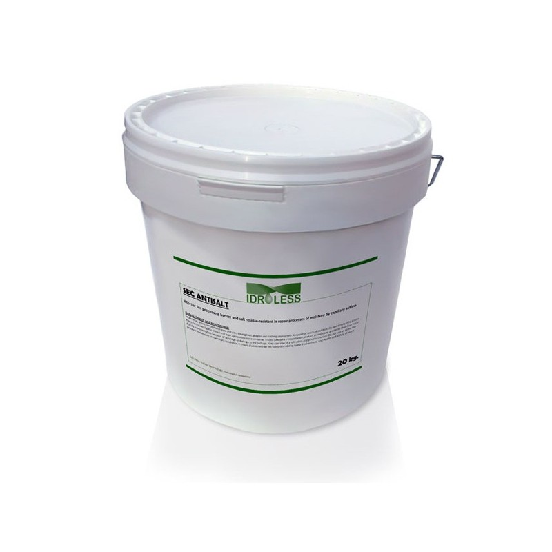 Sec Antisales Idroless. Productos para humedades por Capilaridad Ascendente