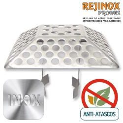 Rejilla de Acero Inoxidable Easy Piramidal 188x188mm.