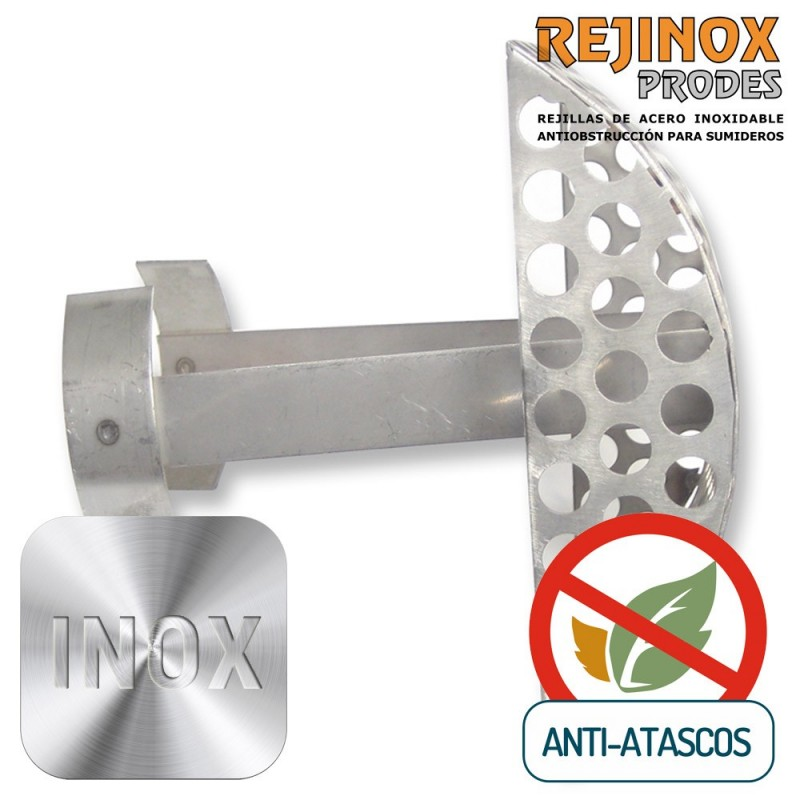 Rejilla encastrable de Acero Inoxidable Easy Oval Vertical de Rejinox