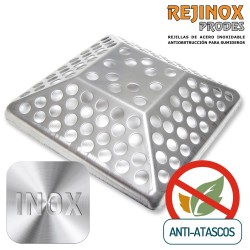 Rejilla Anti Atascos Piramidal en Acero Inoxidable