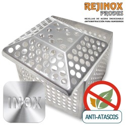 Pack Anti Atasco de Marco Paragravillas + Rejilla Piramidal en Acero Inoxidable de Rejinox Prodes