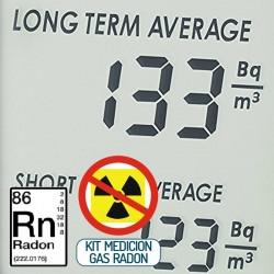 kit para mediciones de cantidad de gas radón en el interior de viviendas