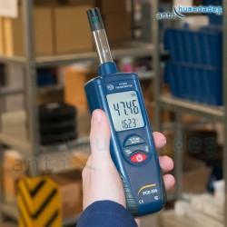 Medidor de humedad y temperatura profesional