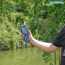 Medidor de temperatura y humedad ambiental por infrarrojos