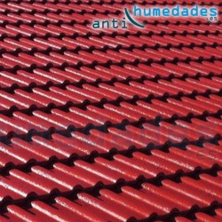paint new roof color rojo