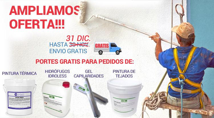 Ampliación de la oferta en Tienda Antihumedades Portes gratis hasta 31 de diciembre