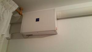 Presentación del Equipo de ventilación forzada en el salón de la vivienda