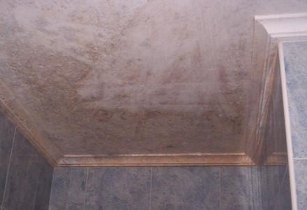 Humedad por condensación en baño por mala ventilación