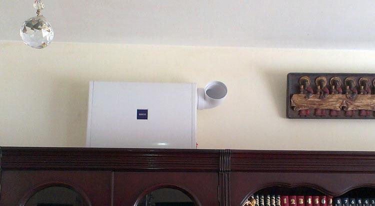 Equipo de ventilación Sinco situado en una zona fría con condensaciones constantes