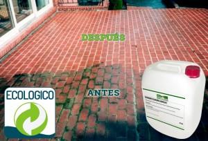 Limpieza de terraza con Detergente Idroless