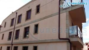 Filtraciones de agua a través de la fachada