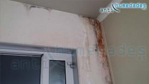 humedades por filtración desde el techo