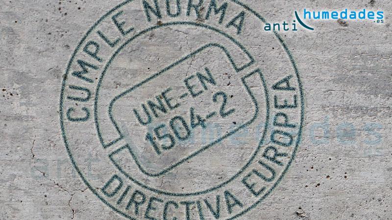 Productos para construcción y antihumedad conforme norma une en 1504-2