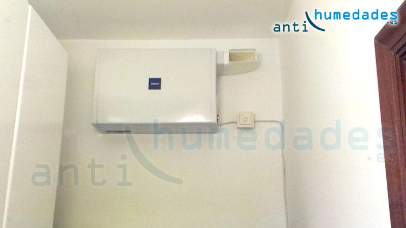 sistema de ventilacion forzada para eliminacion de radón