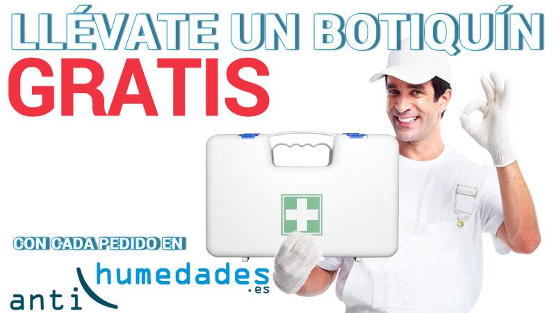 Botiquín homologado gratis con cada pedido en Antihumedades.es. Unidades limitadas. Hasta finalizar existencias