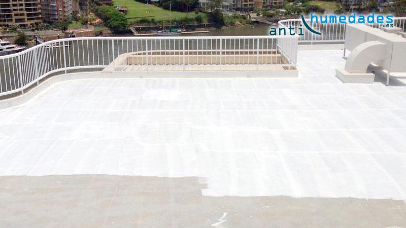 Impermeabilizacion terraza con caucho blanco - Impermeabilizantes para terrazas ...