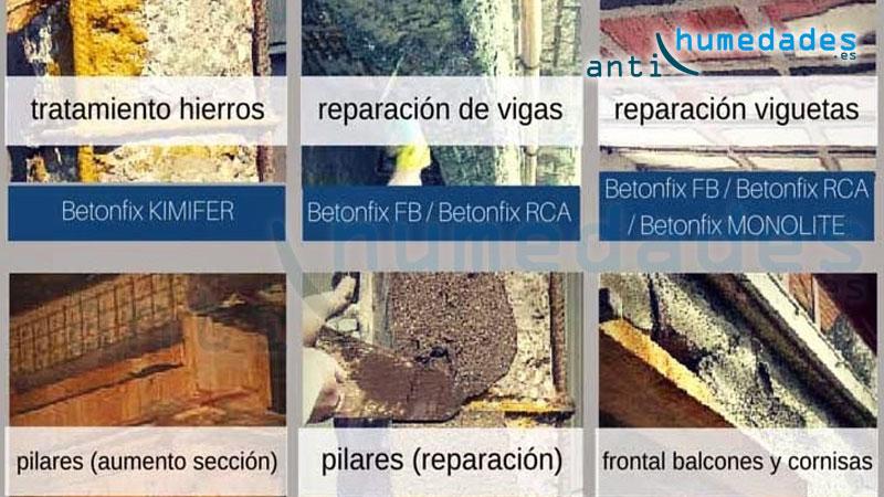 Betonfix y gama de productos y morteros kimia
