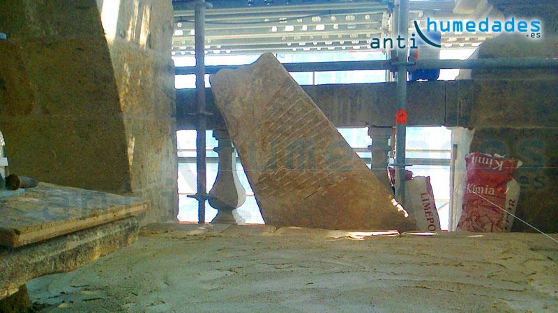 Morteros de cal hidráulica Kimia para restauración de edificios con problemas de humedades