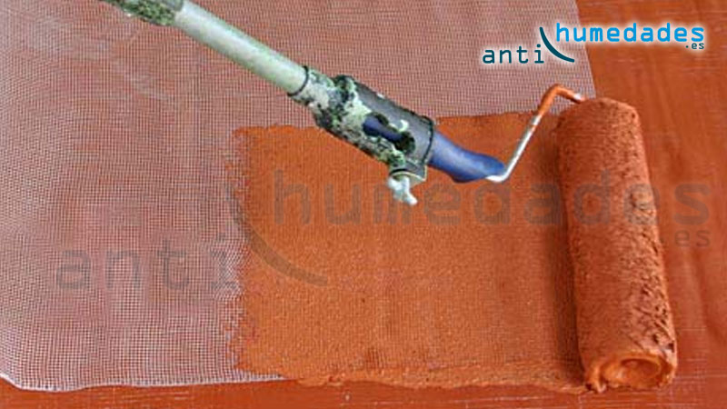reforzado de pintura de caucho con malla de fibra de vidrio