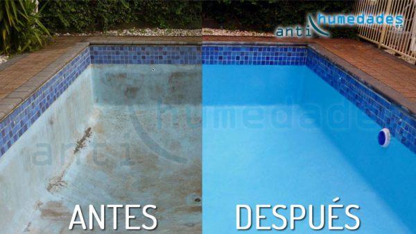 Antes y despues de reparar la piscina con extrem piscinas for Reparacion piscinas