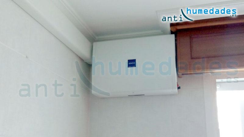 aparato de ventilación forzada anti condensacion por sobrepresión positiva