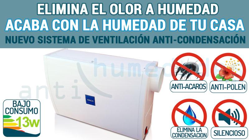 sistema de ventilacion anti condensacion