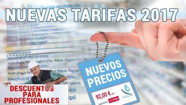 Nuevas tarifas productos Antihumedades 2017