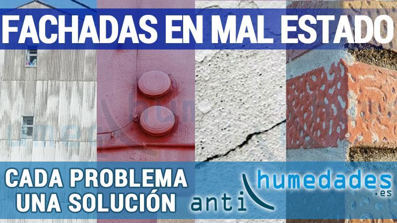 Problemas en fachadas, humedades, filtraciones, decoloraciones, ...