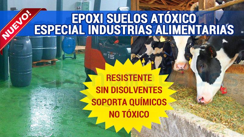 Pintura Epoxi de base agua apto para uso en suelos de industrias alimentarias