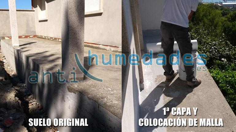 Como impermeabilizar una terraza con membrana liquida de poliuretano y malla de fibra de vidrio
