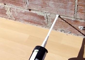 Inyecte el gel de silano creamsilan en la pared