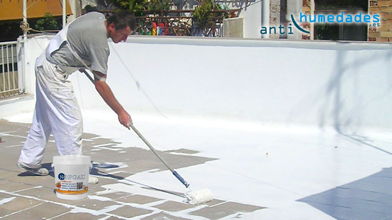 Impermeabilización de terraza con pintura de caucho
